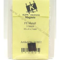 Magnete FE Metall 10 x 4 x 3 mm